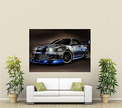 Nissan Skyline  Giant 1 Piece  Wall Art Poster VE106 • 12.64£