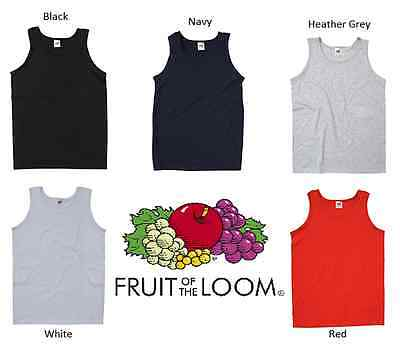 £2.61 • Buy New Plain Fruit Of The Loom Athletic Tank Top Vests In 5 Colours!!
