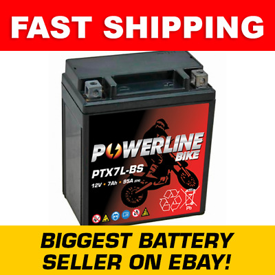 Powerline Yamaha YBR 125 ED 51D2 (2012) : 6-On Maintenance Free Battery YTX7L-BS • 24.95£