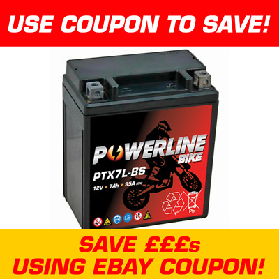 Powerline YTX7L-BS Motorcycle Battery For Honda SH125 SH 125 2001-06 • 24.95£