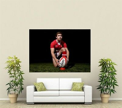 £3.44 • Buy Leigh Halfpenny Wales & Lions Rugby  Giant 1 Piece  Wall Art Poster SP231