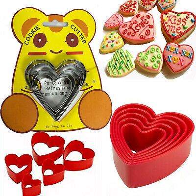 5 Cookies Cutter Biscuit Mould Mold Baking Pastry Bake Heart Flower Fondant Cake • 3.99£