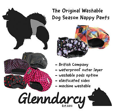 Glenndarcy Washable Female Dog Season Nappy Pants | XS To Medium Long  • 11.99£