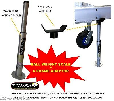 AU85 • Buy Towsafe Tow Ball Weight Scales +  A  Frame Adaptor Caravan Trailer Drawbar