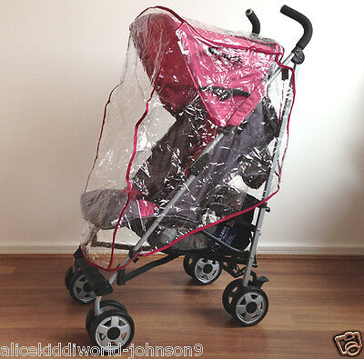 NEW Hauck Plum Violet Dark Pink Rain Cover Raincover For Buggy Pushchair Pram  • 15.99£