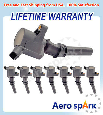 $30.45 • Buy Set Of 8 Ignition Coils For Ford F150-F550 Mustang Excursion Marquis DG508