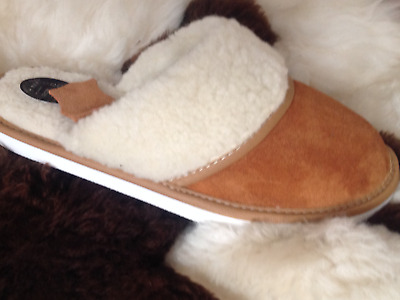 New Lady Sheepskin Real Suede Leather Slippers Wool Shoes Garden Home Flip-Flop  • 7£