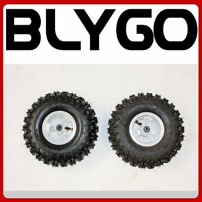 AU59.99 • Buy 2X 4.10 - 4 4  Inch Wheel Rim Tyre Tire 47cc 49cc Mini Quad Dirt Bike ATV Buggy