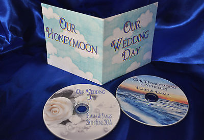£4.99 • Buy Personalised Printed DVD's For Your Wedding Day And Honeymoon Images With Cover