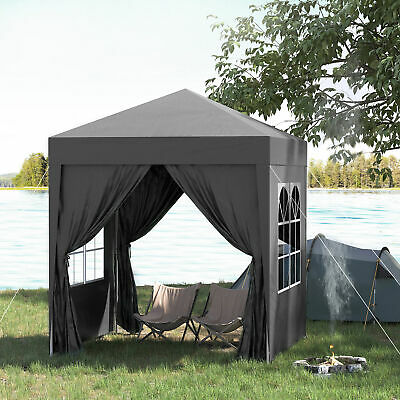 £88.99 • Buy Outsunny 2mx2m Pop Up Gazebo Party Tent Canopy Marquee With Storage Bag Black