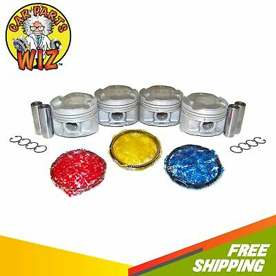 AU120.35 • Buy Pistons And Rings Fits 00-06 Pontiac Vibe GT Toyota Corolla 1.8L DOHC 16v 2ZZGE