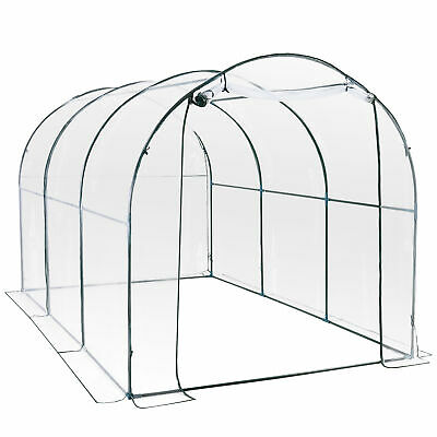 Outsunny 3.5 X 2m Garden Dome Polytunnel Greenhouse Plastic Plant Grow Tent • 59.99£