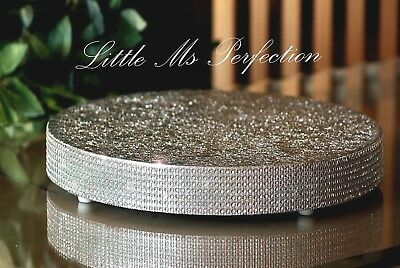 £33.99 • Buy Diamante Crystal Wooden Cake Stand Wedding  Solid Wood Silver Gold  12   22