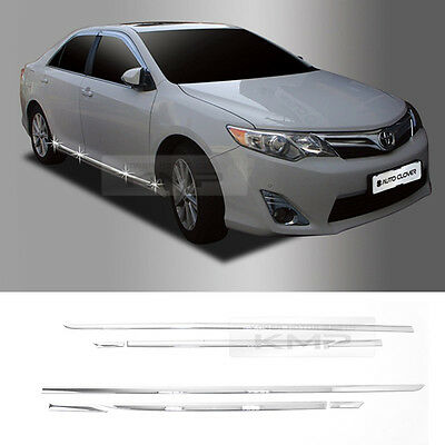 $84.54 • Buy Chrome Side Skirt Accent Garnish Molding B766 For 2012-2014 TOYOTA Camry Hybrid