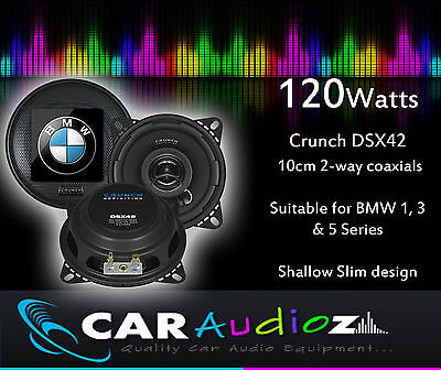 £34.99 • Buy BMW New Upgrade Speakers 10 Cm 4  For 1 3 5 Series, Shallow Slim Co Axial Pair