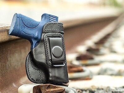 $26.99 • Buy S&W M&P 9c 40c Compact | Full Grain Leather IWB Conceal Carry Holster. USA MADE