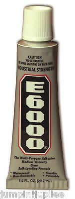 E6000 1oz 29.5ml Glue Industrial Strength Adhesive Jewelry Clothing Rhinestones • 5.68£