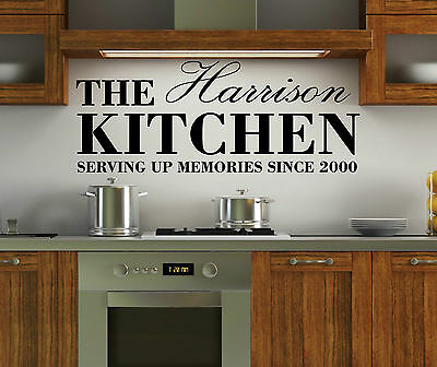 £9.65 • Buy Personalised Family Name Kitchen Wall Art Quote Sticker Decal Vinyl Dining Room