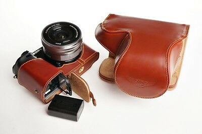 $ CDN103.94 • Buy Genuine Real Leather Full Camera Case Bag Cover For Sony A6000 Bottom Opening