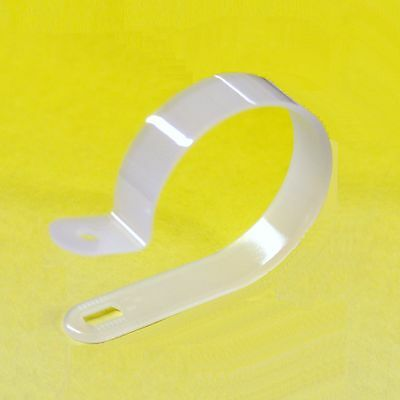 £2.74 • Buy White Plastic Nylon P Clips For Mounting Cables Wires Range Of Sizes Quantities