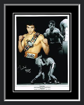 £33.74 • Buy New Charlie Magri  Signed And Framed Boxing Montage