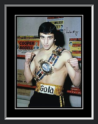 £33.74 • Buy New Charlie Magri  Signed And Framed Boxing Photograph