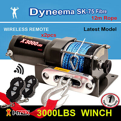 AU139.90 • Buy I-Max 12V Wireless 3000LBS / 1361KGS Electric Winch Synthetic Rope ATV 4WD BOAT