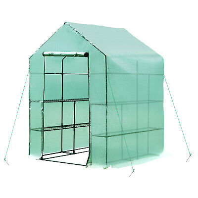 Outsunny 1.4 X 1.4 X 2m Garden Polytunnel Greenhouse Plastic Plant Grow Tent • 59.99£