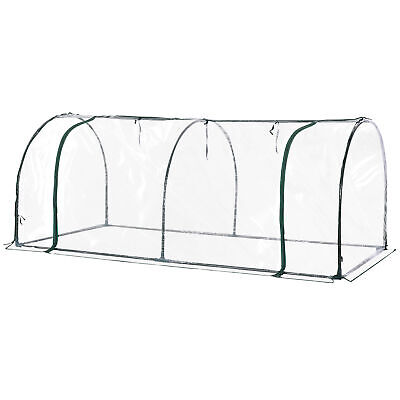 Outsunny Transparent PVC Tunnel Greenhouse Grow House Steel Frame 2 X 1 X0.8M • 26.99£
