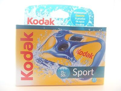 £17.49 • Buy KODAK SPORT UNDERWATER WATERPROOF DISPOSABLE 35mm CAMERA DISCOUNTS ON MULTI BUYS