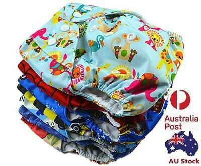 AU11.99 • Buy Reusable Washable Baby Cloth Nappy Nappies Diaper Waterproof Surface Free Insert