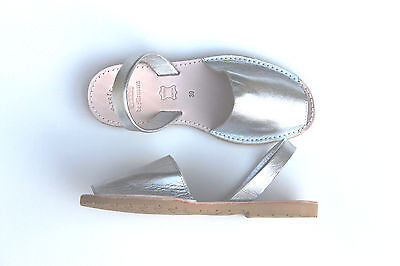 £49.40 • Buy Spanish-European Leather Sandals Abarcas SILVER- FREE SHIPPING !!!