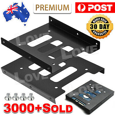 AU5.85 • Buy PC Metal 2.5  To 3.5  SSD To HDD Mounting Adapter Bracket Hard Drive Holder