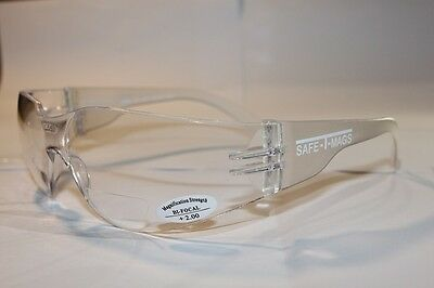 AU16.99 • Buy Bifocal Clear  Safety Glasses Shaterproof  UV100  Workware  +1.50