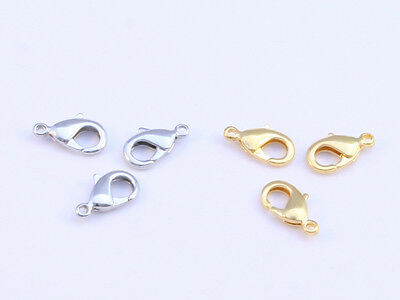 Lobster Clasps In Gold Or Silver Colour In Sizes 18mm, 16mm, 14mm, 12mm & 10mm • 5.99£