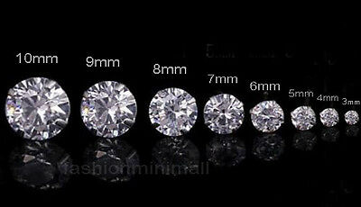 $7.78 • Buy One Day Ship Mens Womens Stainless Steel Studs Earrings With Artificial Diamond