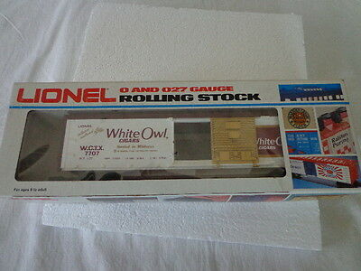 $48 • Buy Lionel O And 027 Gauge White Owl Box Car Tobacco Railroad Woodsided Box Cars