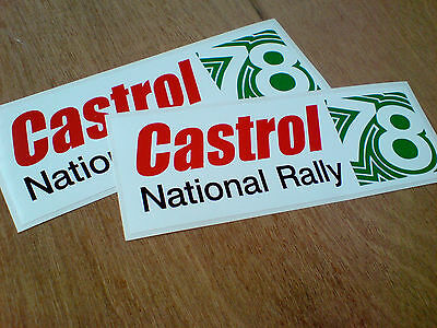 £1.50 • Buy CASTROL NATIONAL RALLY 78 Motor Oil Classic Retro Car Stickers 180mm 2 Off