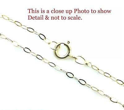 9ct Gold Fine  Lightweight Trace Chain Necklace 16  18  20  & Gift Box • 19.99£
