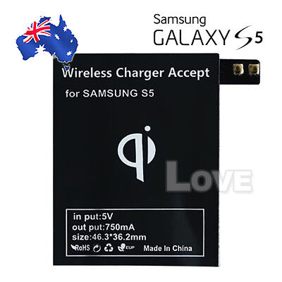 AU7.95 • Buy Qi Wireless Charger Charging Receiver Kit For Samsung Galaxy S5 G900