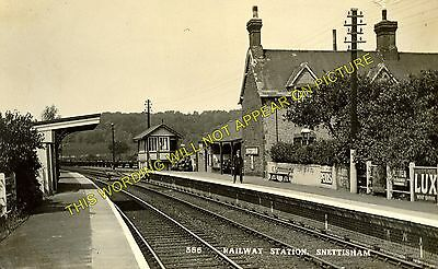 Snettisham Railway Station Photo. Dersingham - Heacham. Hunstanton Line. (6) • 3.50£