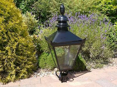 Large Traditional Black Victorian Lantern For Lamppost Tops Light Top 3138 • 129.99£