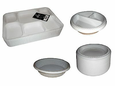 £6.95 • Buy Disposable White Plastic Plates 3 Section Plates 6 Section Plates