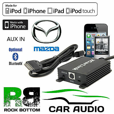 Mazda 2 Car Stereo Radio AUX IN IPod IPhone Bluetooth Interface Connection Cable • 79.99£