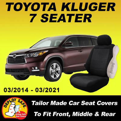 AU188 • Buy Car Seat Covers For Toyota Kluger 7 Seater,  3 Rows 03/2014-Current Airbag Safe!