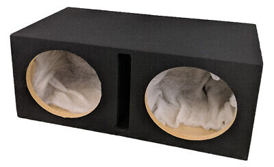 £119.99 • Buy Double Dual 12  Custom Slot Ported Box MDF Enclosure For 2 X 12  Sub Subwoofer