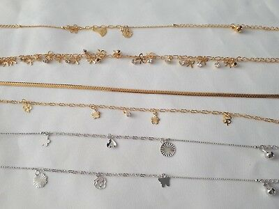 £2.99 • Buy Gold, Silver Plated Anklet, Bracelet ,Ankle Chain Payal