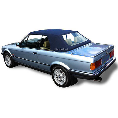 $319 • Buy BMW E30 Convertible Soft Top & Plastic Window 3 Series 1986-1993 Blue Stayfast
