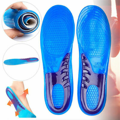 Work Boots Feet Arch Support Orthotic Absorb Shock Gel Massaging Shoe Insoles • 3.49£