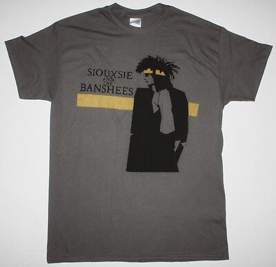 Siouxsie And The Banshees Tinderbox Tour Artwork New Grey Chracoal T-shirt • 8.99£